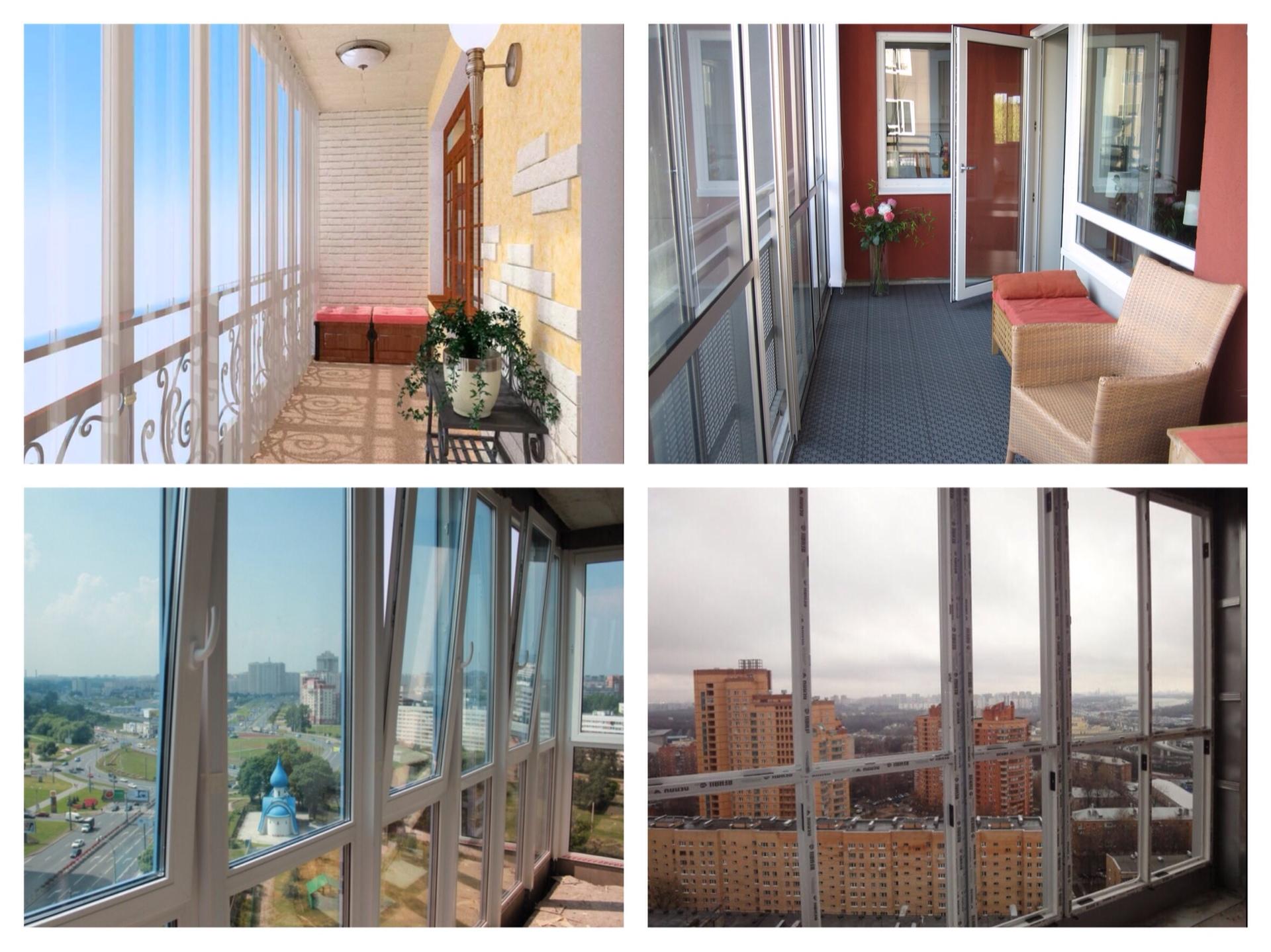 Остекление балконов лоджий веранд и беседок